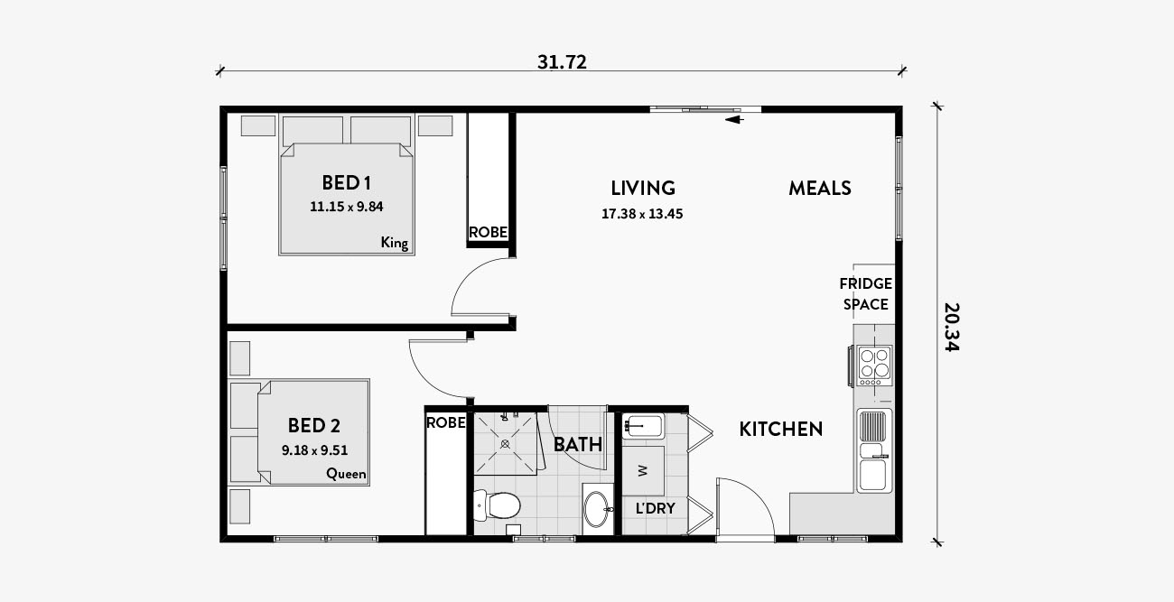 Two 2 Bedroom Adu Floor Plans Los Angeles Architect